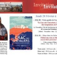 """Jeudi 28 (18h30) : Visite-guidée """"Le Crac des Chevaliers, forteresse des Hospitaliers de Malte"""""""